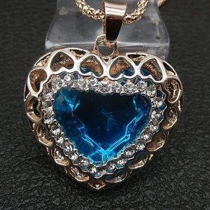 Blue Heart Pendant NWT-